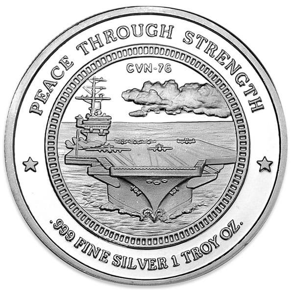 Ronald Reagan - .999 Pure Silver 1 oz Round thumbnail