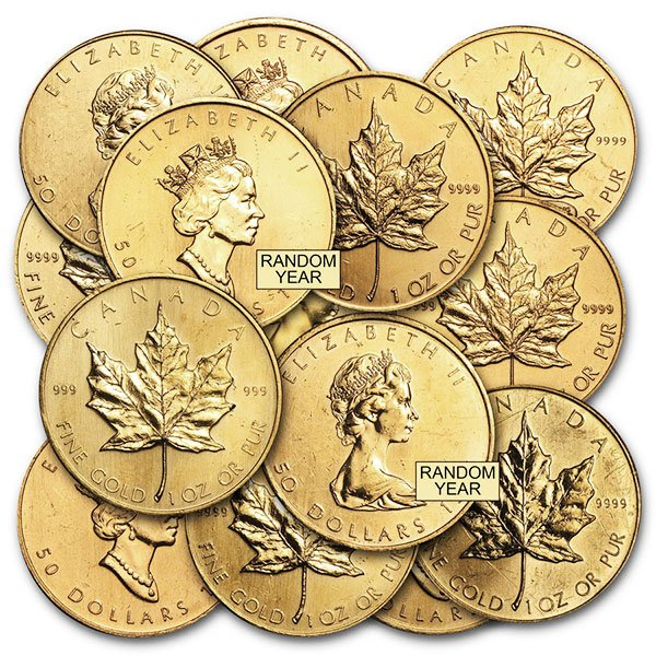 Scruffy Gold Maple Leaf - 1 Oz, .999 Min Purity thumbnail