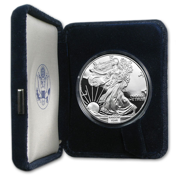 American Silver Eagle Proof Coins - 1 Troy Oz .999 Pure