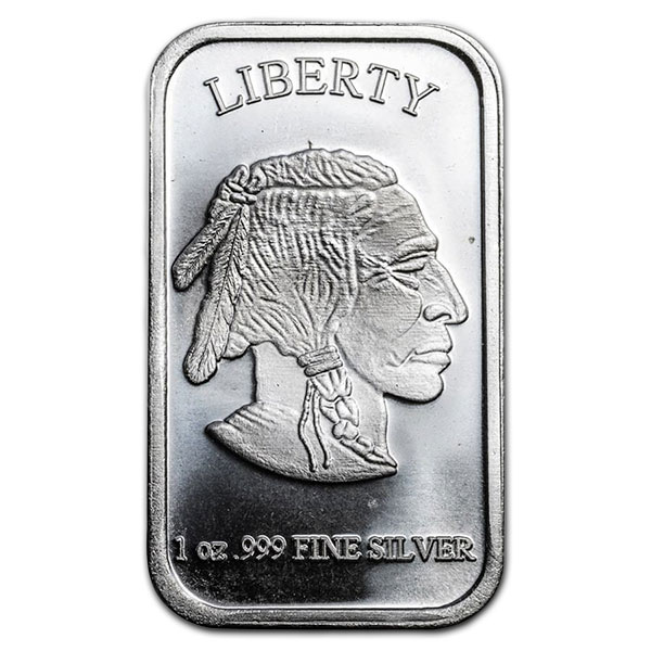 Buffalo Design Silver Bar - 1 Ounce .999 Pure