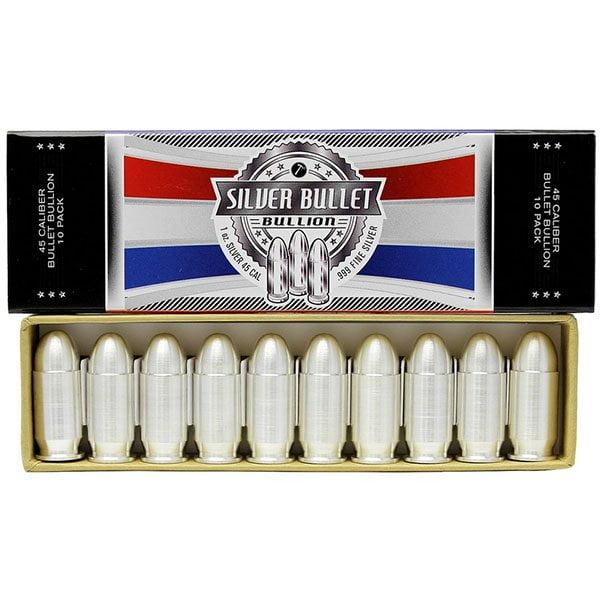 1 Oz Silver Bullet - 1 Troy Oz .999 Fine Silver (.45 Cal) thumbnail