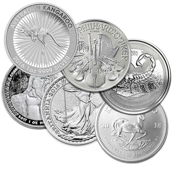 1 Oz Silver Coin (BU) - .999 Pure, Random Design