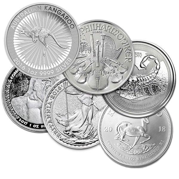 1 Oz Silver Coin - .999 Pure, Random Design
