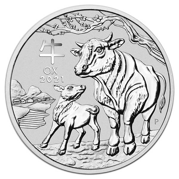Lunar Ox - Perth Mint 1 Oz .9999 Fine Silver