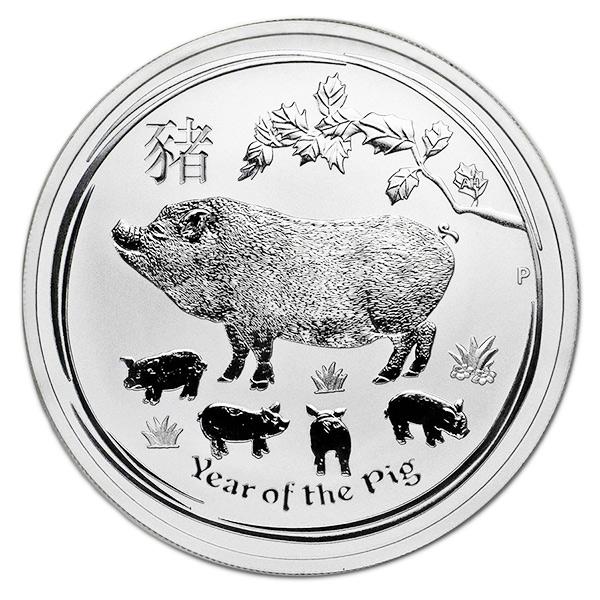 Lunar Pig - Perth Mint 1 Oz .9999 Fine Silver