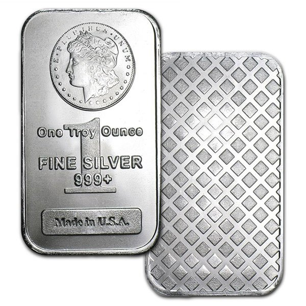 Morgan Design Silver Bar - 1 Ounce .999 Pure thumbnail