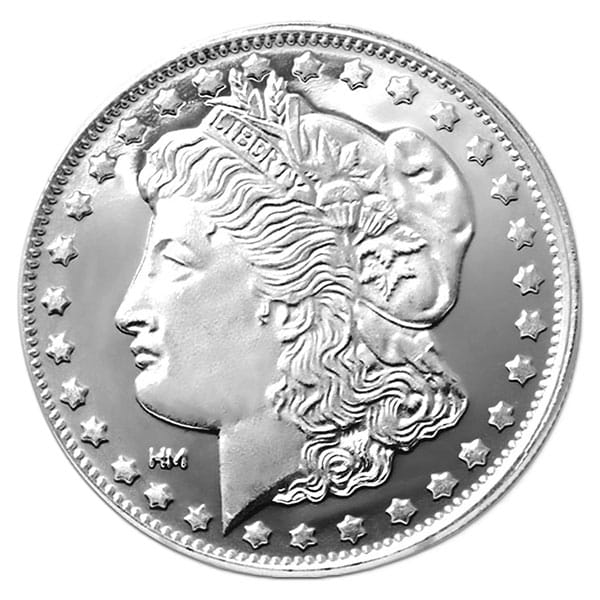 Morgan Silver Round - 1 Troy Ounce, .999 Pure