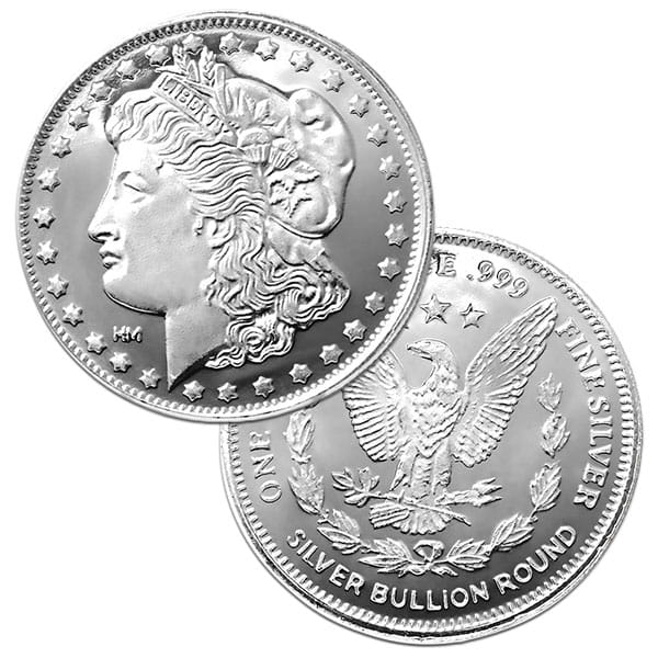 Morgan Silver Round - 1 Troy Ounce, .999 Pure thumbnail