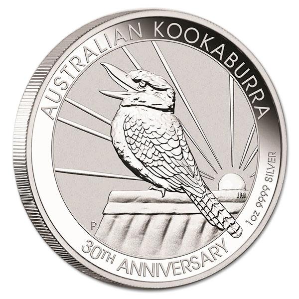Kookaburra - Perth Mint 1 Oz .9999 Fine Silver thumbnail