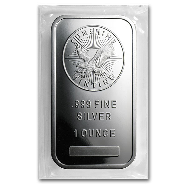 Sunshine Minting 1 Ounce Bar, .999 Pure Silver thumbnail