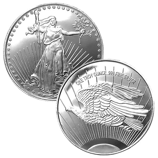 St. Gaudens Silver Round - 1 Troy Ounce, .999 Pure
