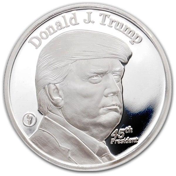 Donald Trump 1 Oz Silver Rounds