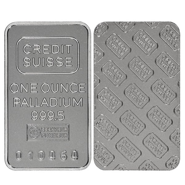 1 Oz Palladium Bars thumbnail