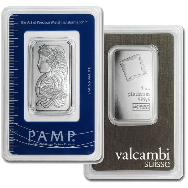 1 Oz Platinum Bars