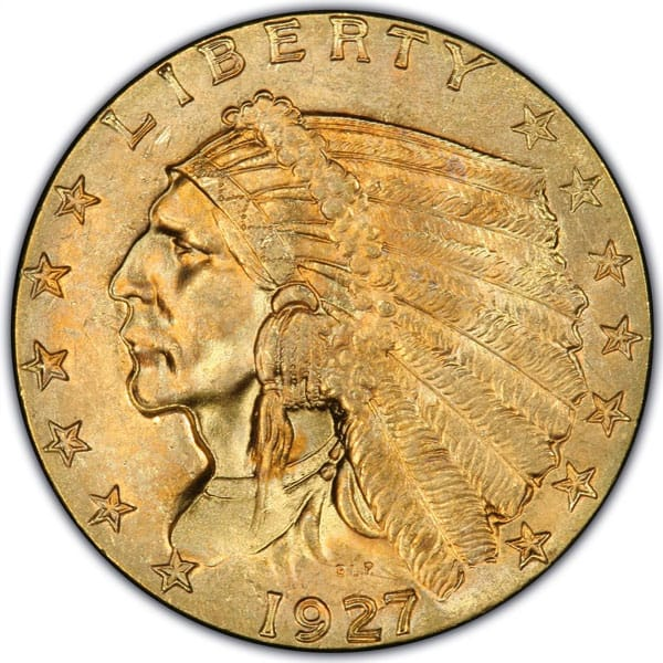$2.50 Indian Head Gold Coin - .1209 Troy Ounce Gold Content