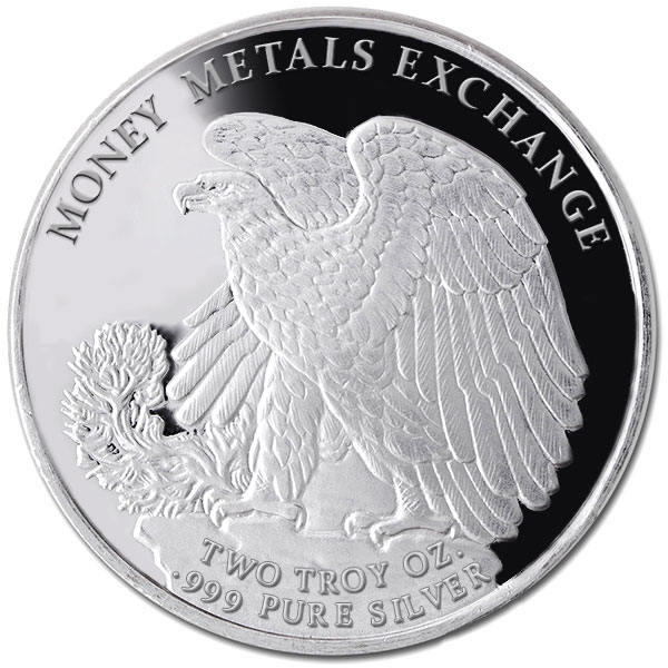 2 Ounce Walking Liberty - .999 Pure Silver Round thumbnail