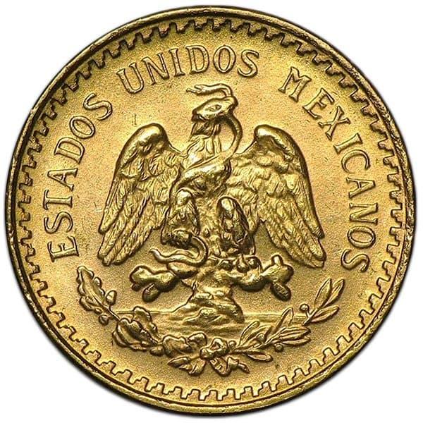 Mexican 2.5 Peso, .0603 Ounces Gold Content thumbnail