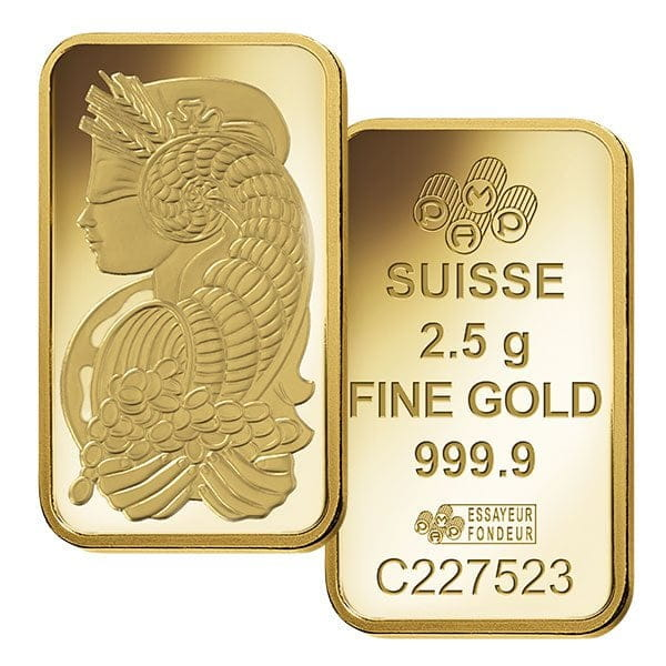Pamp Suisse 2 5 Gram Gold Bar Thumbnail