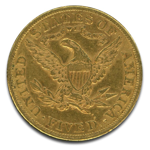 5 U S Liberty Gold Coin Thumbnail