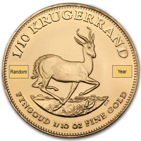 1/10 Oz Krugerrand, 22K Gold