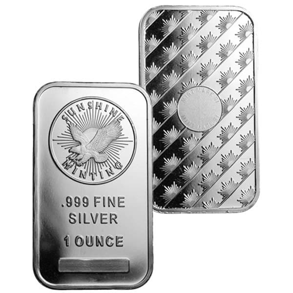 1 Oz Silver Bars For Sale Buy Stunning Authentic Bullion