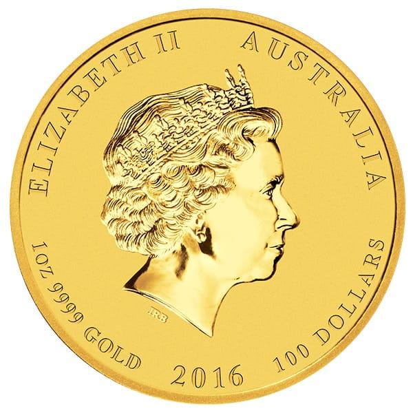 Perth Mint Lunar Series - 2016 Year of the Monkey, 1 Oz .9999 Gold thumbnail