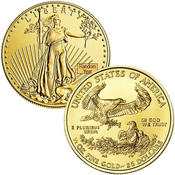 1/2 Oz American Gold Eagle Coins