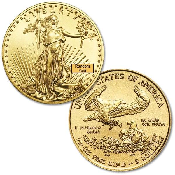 1/10 Oz American Gold Eagle Coins thumbnail