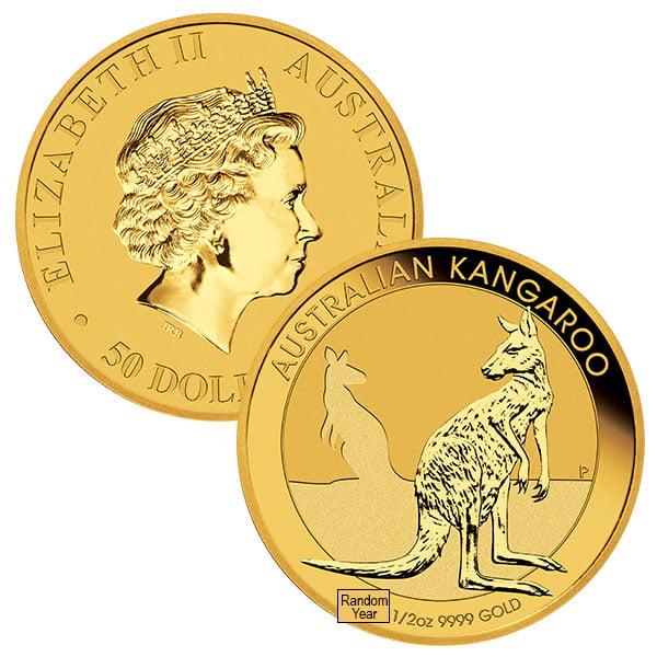 1 2 Oz Australian Kangaroo Gold Coins Thumbnail