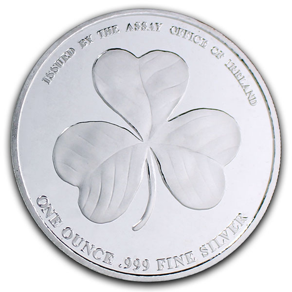 Irish Shamrock - 1 Troy Ounce .999 Silver
