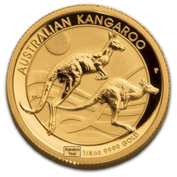 1/4 Troy Oz Australian Gold Kangaroo, .9999 Pure