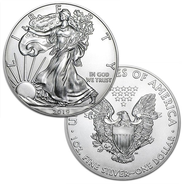 2019 Silver American Eagle - 1 Troy Ounce, .999 Pure thumbnail