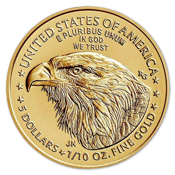 1/10th Oz American Gold Eagle Coin - 2021 Type 2