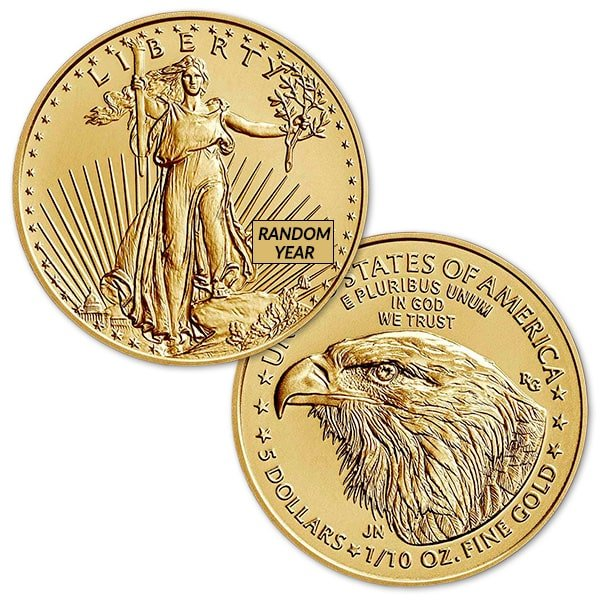 1/10th Oz American Gold Eagle Coin - 2021 Type 2 thumbnail
