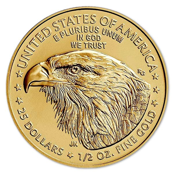 1/2 Oz American Gold Eagle Coin - 2021 Type 2