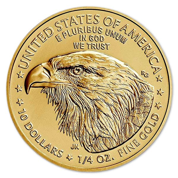 1/4 Oz American Gold Eagle Coin - 2021 Type 2