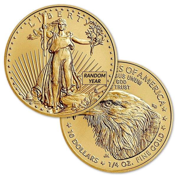 1/4 Oz American Gold Eagle Coin - 2021 Type 2 thumbnail