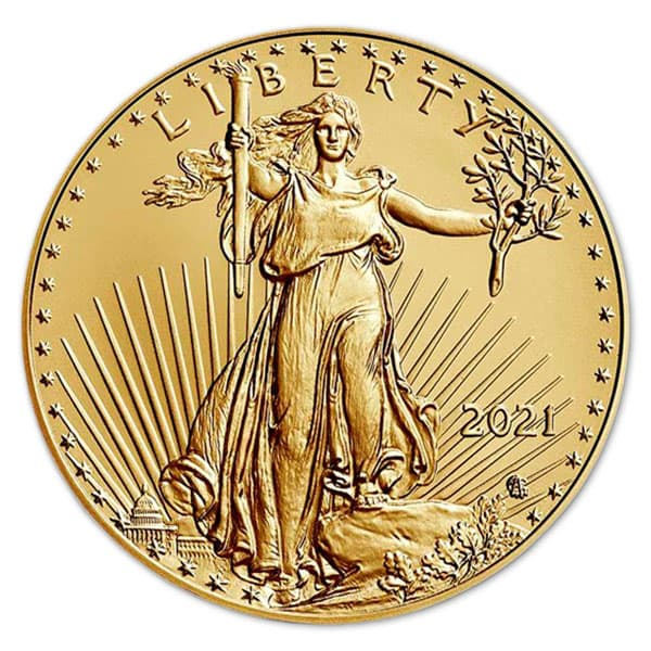 American Gold Eagle Coin 2021 Type 2 - 1 Troy Ounce thumbnail