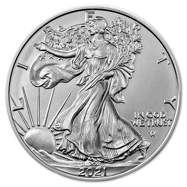 2021 Type 2 Silver American Eagle - 1 Troy Ounce, .999 Pure thumbnail