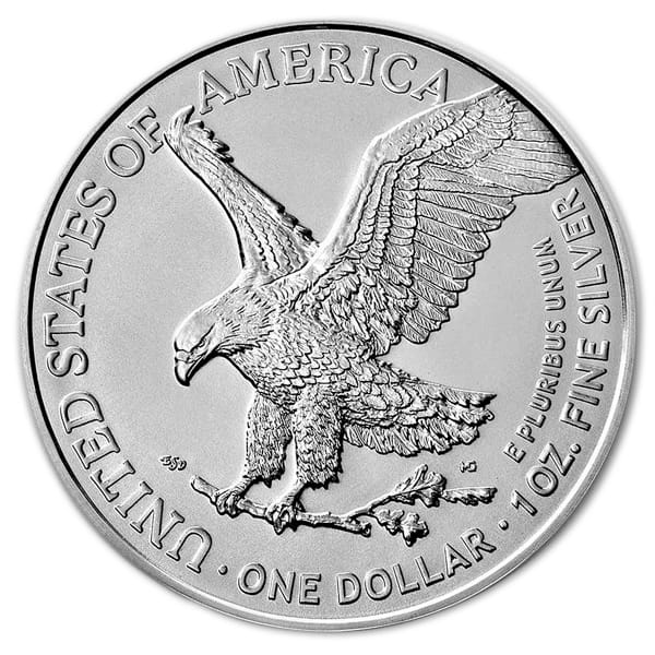 2021 Type 2 Silver American Eagle - 1 Troy Ounce, .999 Pure