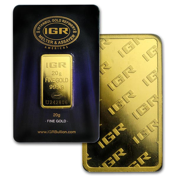 Gold Bar, 20 Gram, .9999 Pure thumbnail