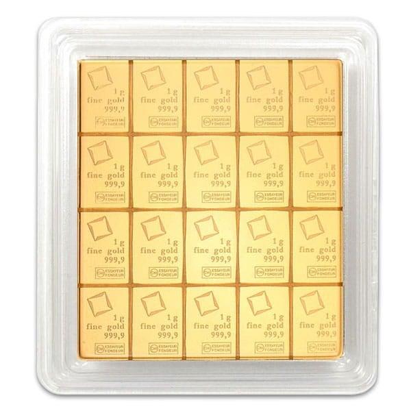 Valcambi CombiBar - 20 x 1 Gram .9999 Gold (0.643 troy Oz) thumbnail