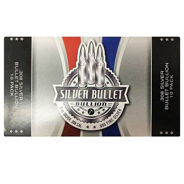 Silver Bullet - 2 Troy Oz .999 Fine Silver (.308 Cal) thumbnail