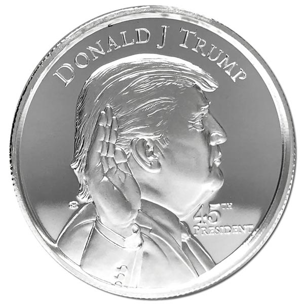 President Trump - 2 Oz Ultra High Relief Pure Silver Round