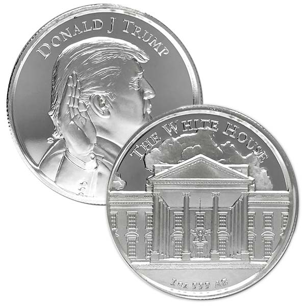 President Trump - 2 Oz Ultra High Relief Pure Silver Round thumbnail