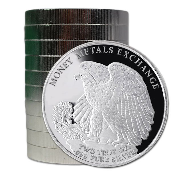 2 Ounce Walking Liberty - .999 Pure Silver Round thumbnail