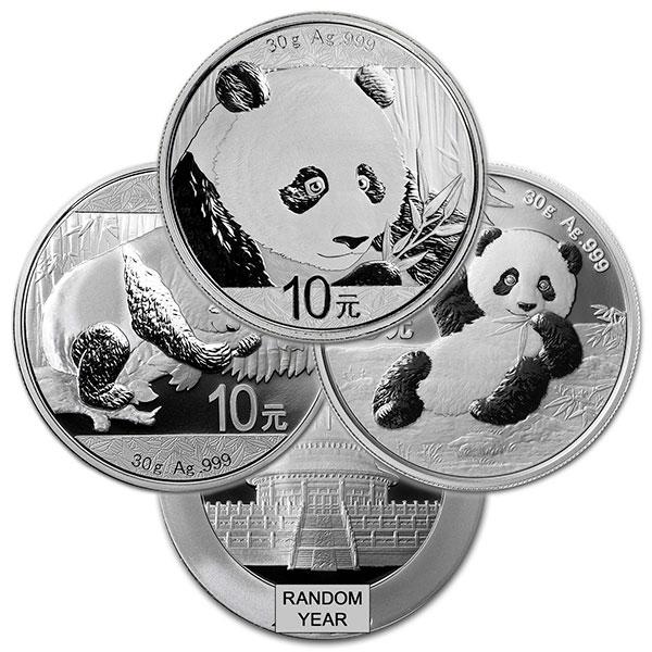 Chinese Silver Panda, 30 Grams .999 Pure