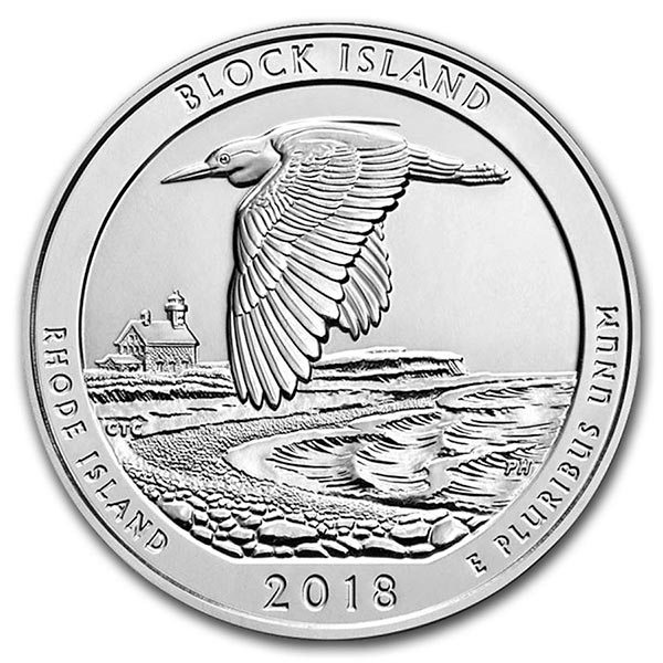 America the Beautiful - Block Island National Wildlife Refuge 5 Ounce .999 Silver