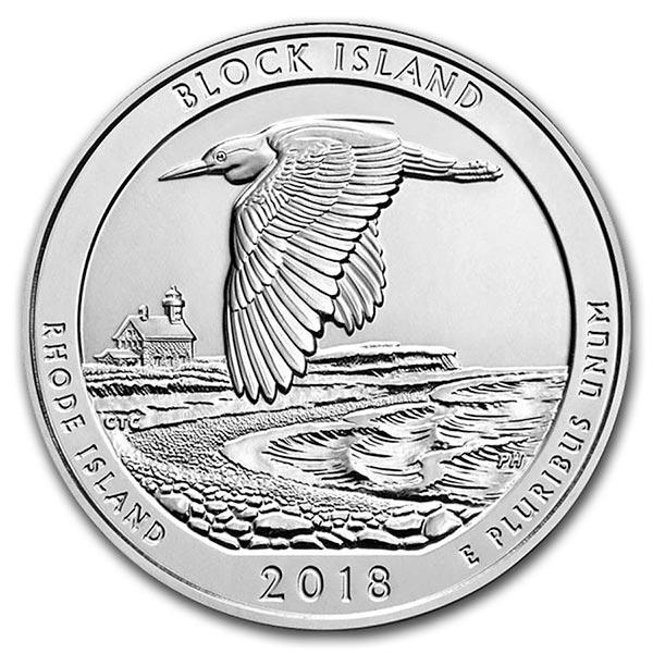 America the Beautiful - Block Island National Wildlife Refuge 5 Ounce .999 Silver