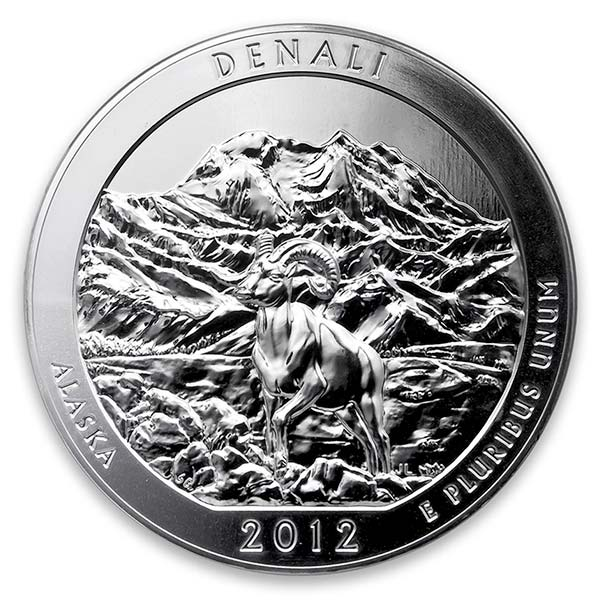 America the Beautiful - Denali National Park 5 Ounce .999 Silver